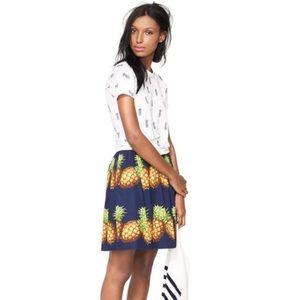J. Crew ratti pineapple skirt